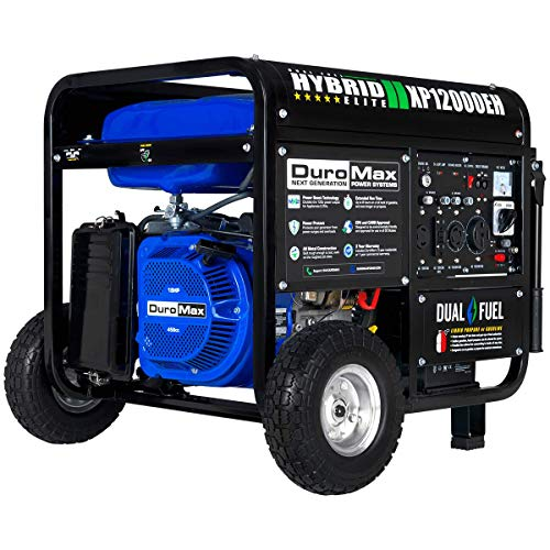 DuroMax XP12000EH Dual Fuel Portable Generator - 12000 Watt Gas or Propane Powered-Electric Start- Home Back Up RV Ready, 50 State Approved
