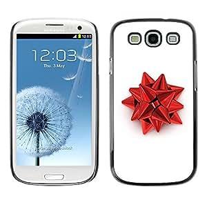 TECHCASE**Cubierta de la caja de protección la piel dura para el ** Samsung Galaxy S3 I9300 ** Red Christmas Decoration