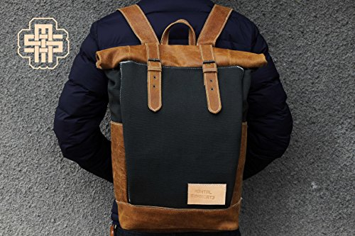 Chef Roll Top Backpack Canvas Roll Top Backpack Chef Backpack Chef Rucksack Chef Roll Top Rucksack Knife Backpack by Mental Syndicate