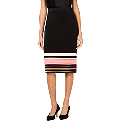 Alfani Womens Striped Strech Scuba Skirt at Women's Clothing store