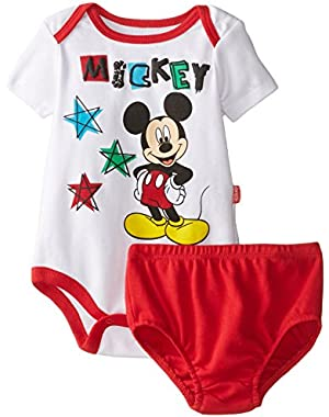 Disney Baby-Boys  Mickey Mouse Diaper Cover Set