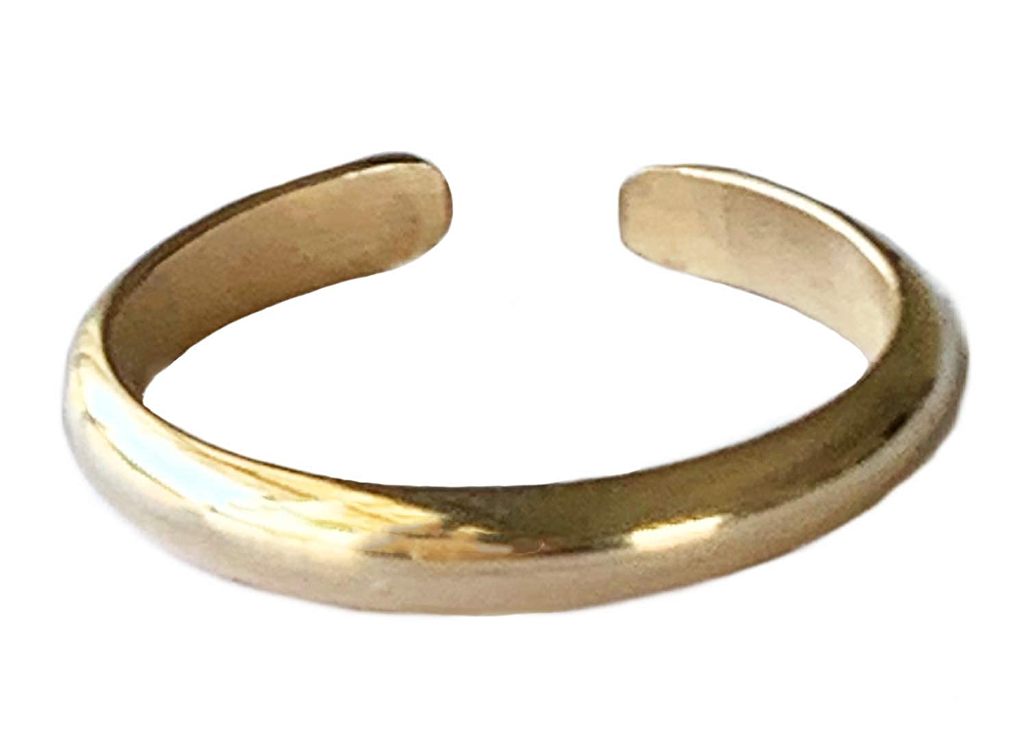 2MM Band 14k Gold Fill Attire for Your Toes Girls Adjustable Ring for Foot Or Midi for Women Made in The USA Or Men Toe Ring