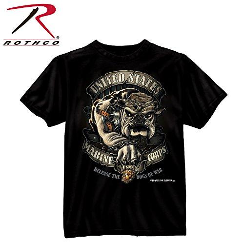 Rothco Bi USMC Bulldog T-Shirt, X-Large (Marine Bulldog Shirt)