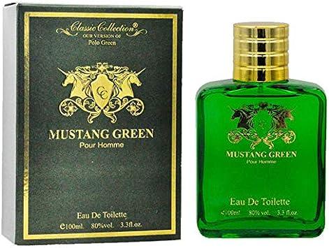 Mustang Green Polo Eau De Toilette Mens Perfume 100ml/3.4oz ...