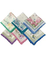 Uniquezone Colorful Floral Handkerchief Wendding Party Fabric Hanky