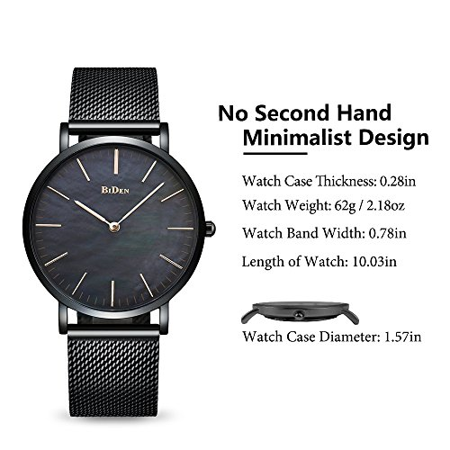 FunkyTop Couple Watches Mens Women Stainless Steel Mesh Watch Quartz Analog Fashion Casual Waterproof Ultra Slim Watch