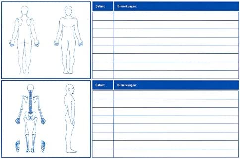 Patienten Karteikarten Praxiskarten Patientenkarten Therapie Arzt / Physiotherapie, 100 Stück