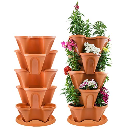 Houseables 5 Tier Planter, Stackable, 30