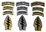 3 Set Special Forces Ranger Airborne American Flag