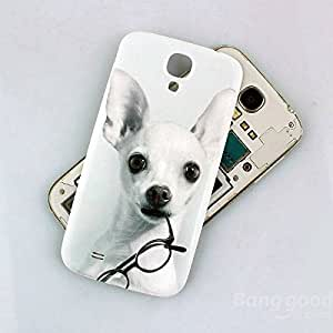 Sut Bebé teléfono repujado perro posterior para i9500 Samsung Galaxy S4