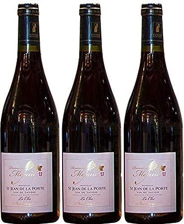 Vino artesanal Saboya tinto Mondeuse, AOP 2018, 3 botellas de 75cl.