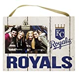 "KH Sports Fan 10""x8"" Kansas City Royals Clip It Weathered Logo Photo Frame, 10"" x 8"""