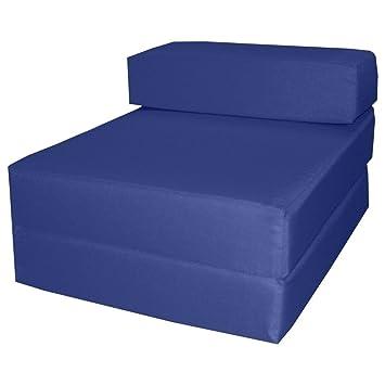 Gilda Fauteuil Lit Standard Résistant Bleu Marine Lit Simple Invité Chaise  Z Z Futon Lit 1