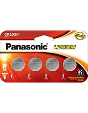 Panasonic CR2025 3.0 Volt Lithium Coin Cell Batteries – 4 Pack
