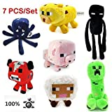 Jazwares Game Minecraft Enderman Creeper Pig Mojang Plush Soft Toy Set of 7 New