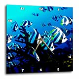 3dRose dpp_26847_1 Deep Blue Sea Life Creatures-Wall Clock, 10 by 10-Inch For Sale
