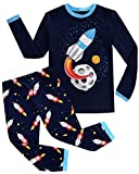 Joyond Boys Pajamas Set Rocket 100% Cotton Sleepwears 2 Piece Long Sleeve Clothes Toddler Kids PJS Set(huojian 7T)