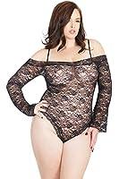 Coquette Women's Plus-Size Diva All Over Stretch Lace Teddy