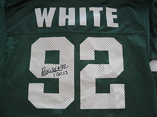 (Reggie White Autographed/Signed Green Bay Packers Jersey COA)