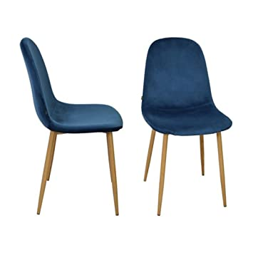 Zons Chaise Salle A Manger Scandinave Velours Scandinave 45 55 85cm