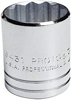 product image for Stanley Proto J5432 1/2-Inch Drive Socket, 1-Inch, 12 Point