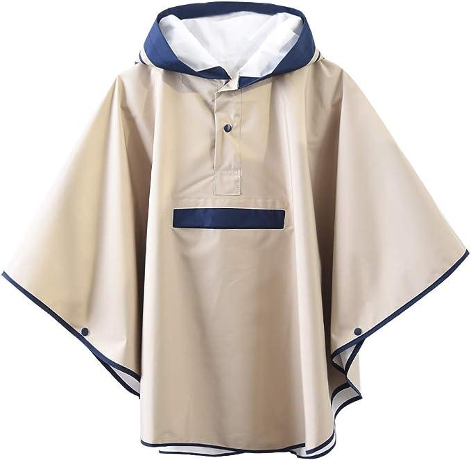 Kids Childrens Light Weight Rain Coat Poncho Waterproof Festival Hooded Cape