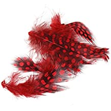 Dot Feather 3D Sticker French Tips Nail Colorful Art Natural Plume Decals Red