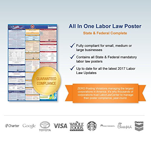 2018 Montana Labor Law Poster – State & Federal Compliant – Laminated Photo #4