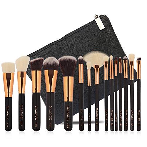 Price comparison product image Face Makeup Brushes Tool,  Sdoo 15 pcs Makeup Brush Set tools Make-up Toiletry Kit Wool Make Up Brush Set Blush Concealers Make Up Brushes Kit Tops (Black)