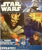 Star Wars 48 piece 3D Lenticular Puzzle SAVAGE OPRESS Sith Lord 9 x 6 (Lightsaber Duel Anakin Skywalker Obi-Wan Kenobi Count Dooku!)