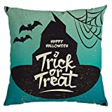 Bazahy Wizard Hat Cat Cushion Cover,4Pcs Halloween Ghost Pillow Case Sofa Waist Throw Cushion Cover Home Decor