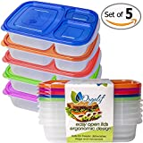 Orgalif 3-compartment Bento Lunch Box, Set of 5
