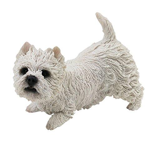 Zonstore West Highland Terrier Statue White Puppy Dog Figurine