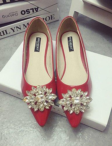 de us7 de 5 cn38 5 señaló elegante negro uk5 Toe zapatos zapatos casual PDX rojo la tacón eu38 Classic black Flats mujer 50qag4