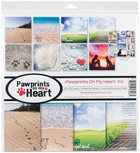 Reminisce Pawprints On My Heart Scrapbook -