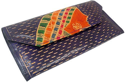 Indiano Lady design Vera Pelle 100% puro rilievo handmade colorato Shantiniketan Borsetta a mano in rosso