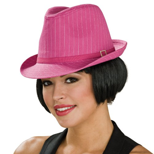 Silber Pierre Costumes (Rubie's Costume Co Pink/Why Pinstripe Fedora)