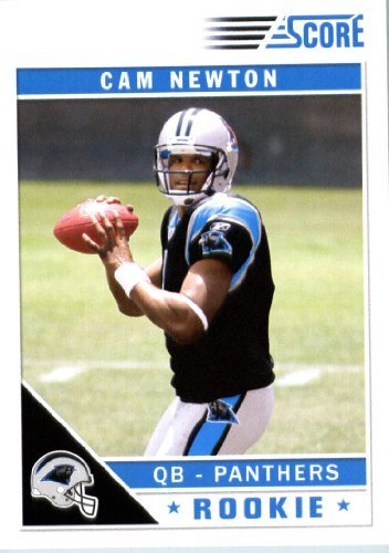 2011 Score Football Card # 315 Cam Newton RC - Carolina Panthers (field in background) (RC - Rookie Card) NFL Trading Card In a Protective Screwdown - 2011 Football Cards