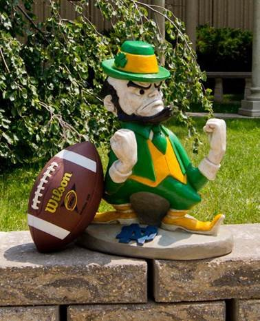Stone Mascots – University of Notre Dame Leprechaun College Stone Mascot Review