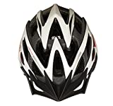 MOON Road and Mountain Bike MTB Helmet, Light Weight with High Grade EPS and PC (Black & White)