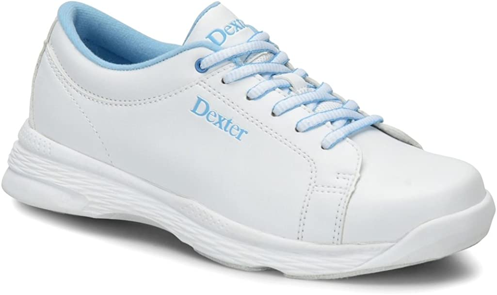 White//Blue Dexter Womens Raquel V Bowling Shoes