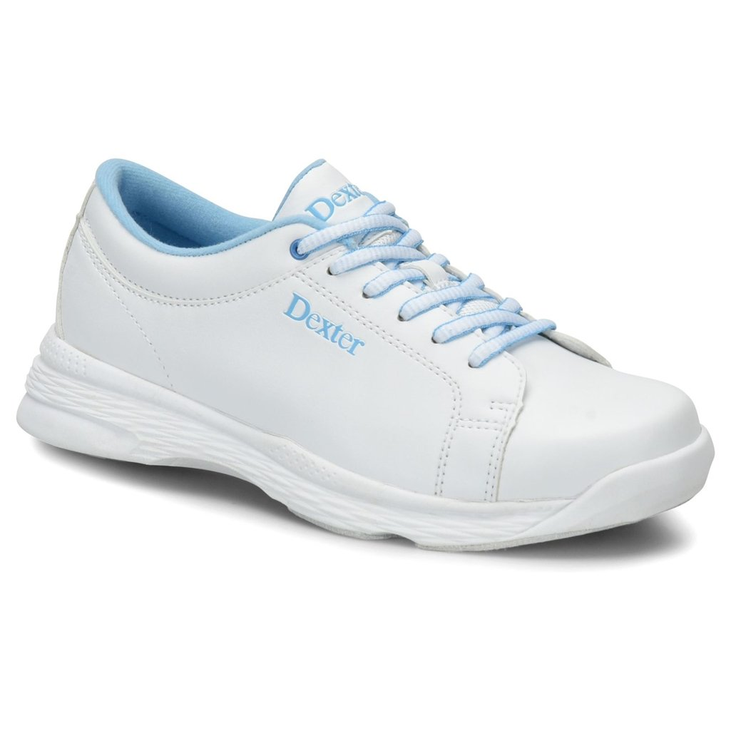Dexter Girls Raquel V Jr Bowling Shoes- White/Blue