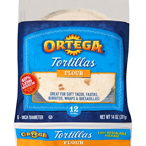 Ortega Tortillas, Flour, 6 Inch, 12 Count (Pack of 12)