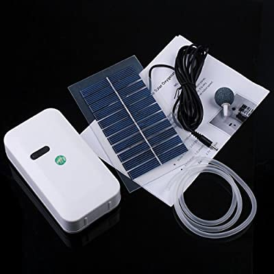 Kingzer Solar Power Panel Oxygenator Aerator Air Pump Oxygen Pool Pond Bank Charger US