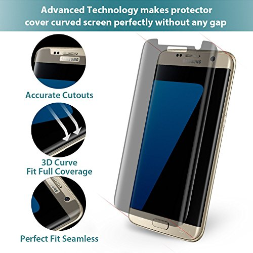 new concept c671d adebe Galaxy S7 Edge Screen Protector, Klearlook®[Privacy Protection ...