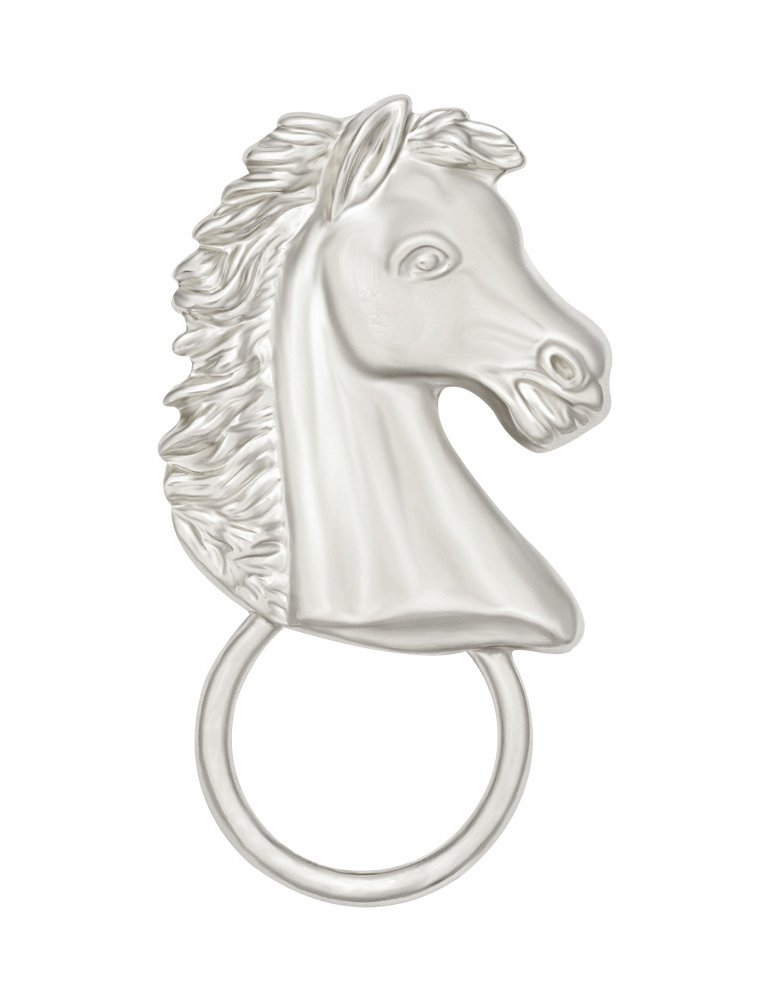 TUSHUO Gold Tone Umakubi Eyeglass Holder Horse Snap Magnetic Brooch for Shirts (Silver)