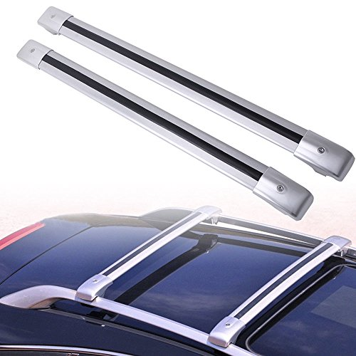 (MotorFansClub Luggage Rack Locking Top Roof Rack Cross Bar Crossbar for Volvo XC90 XC 90 2003-2014 )