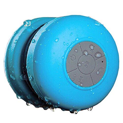 Maxfind Waterproof Bluetooth EDR Shower Speaker Car Handsfree Speakerphone Built in Mic Great Fun for Your Shower and Outdoor Trip (Blue)