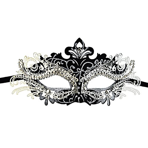 Kefan Masquerade Mask Halloween Party Mask Mardi Gars Mask Stunning