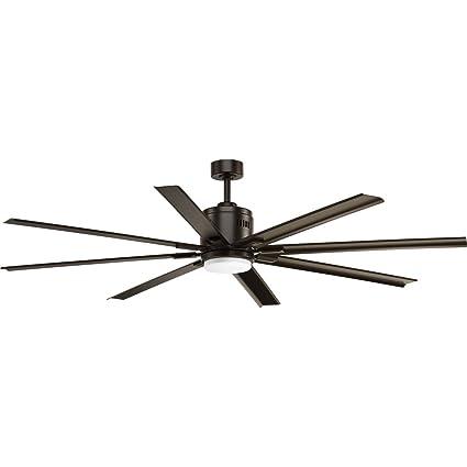 Progress lighting p2550 2030k vast collection 72 16w led 8 blade fan antique